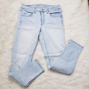 AEO Super Stretch Skinny Jeggings Short Jeans